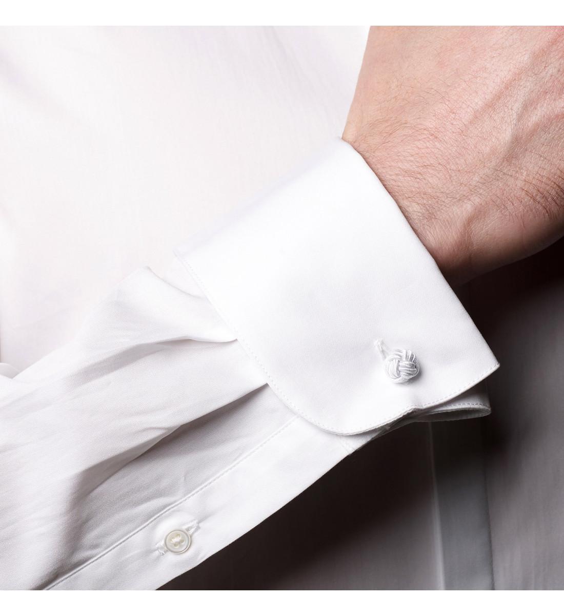 Chemise ajustée col cassé