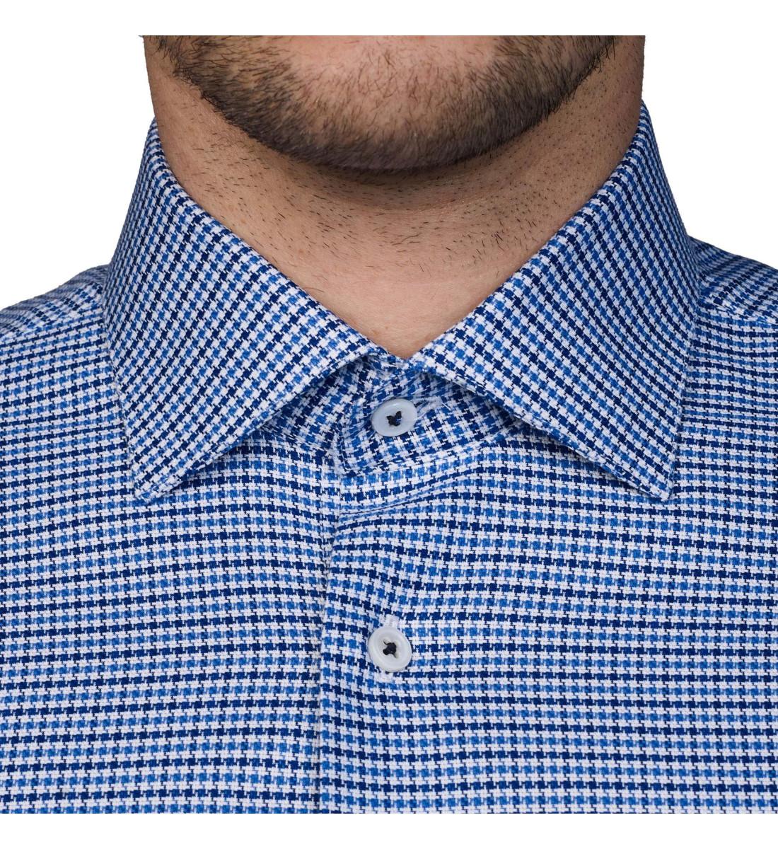 Chemise cintrée LOUAN bleu