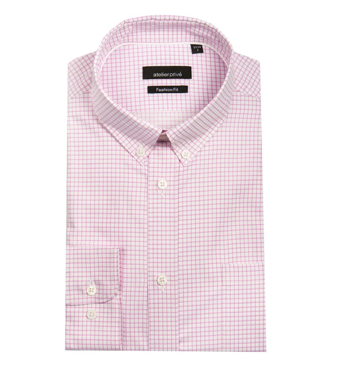 Chemise ajustée MALO rose