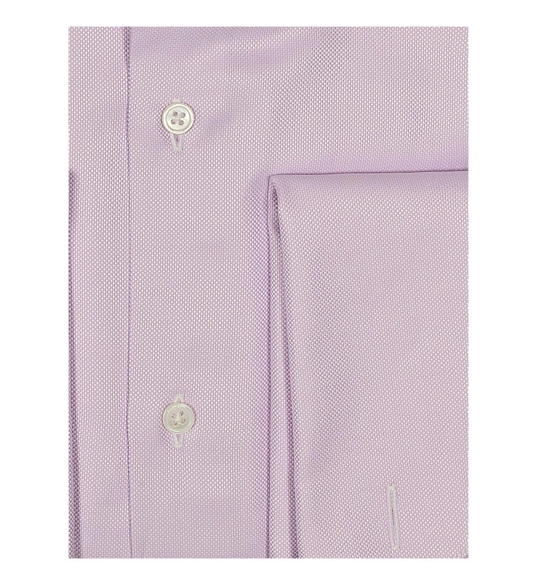 Chemise cintrée col italien rose