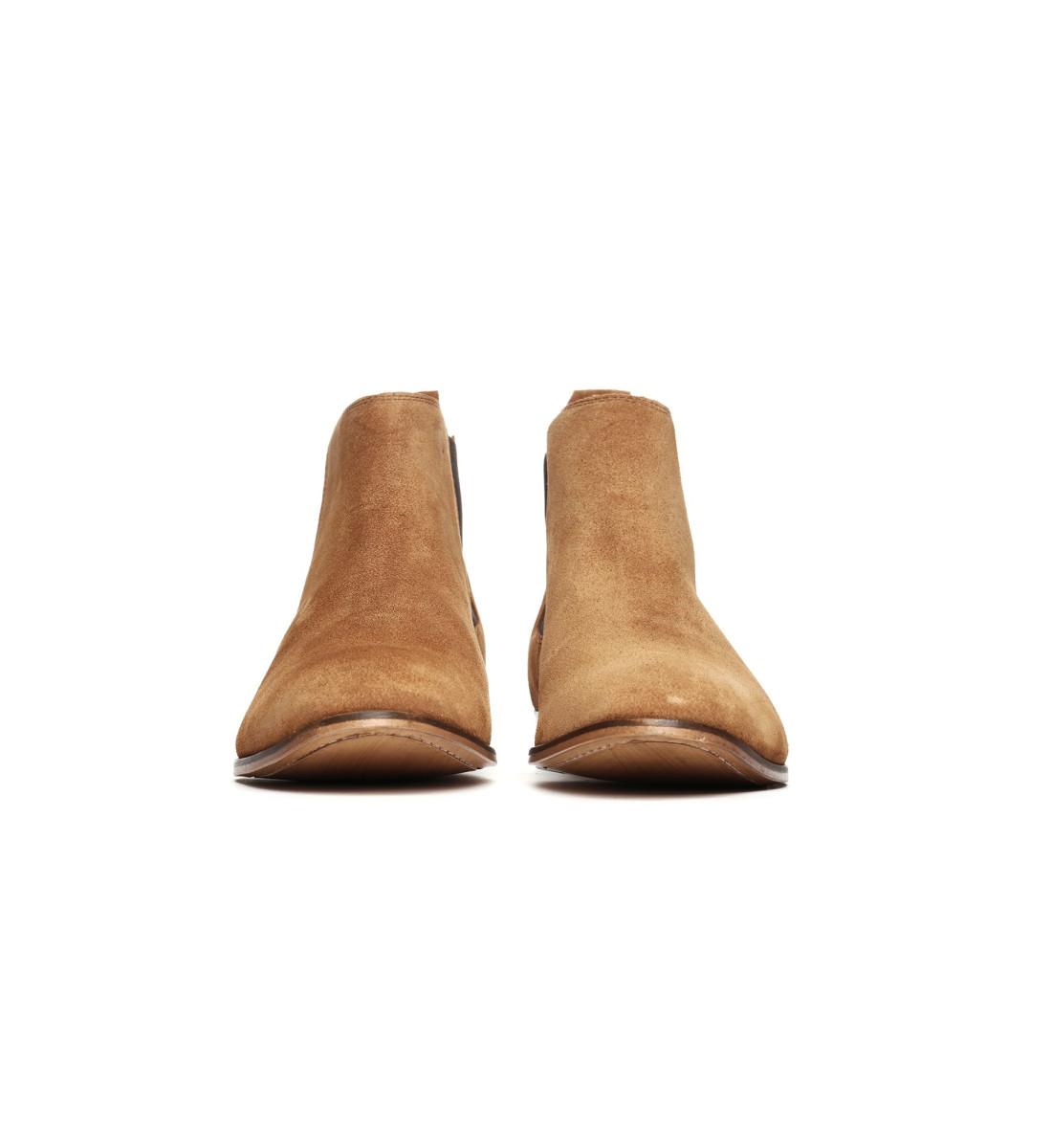 Chelsea Boots mi-haute suede COGNAC