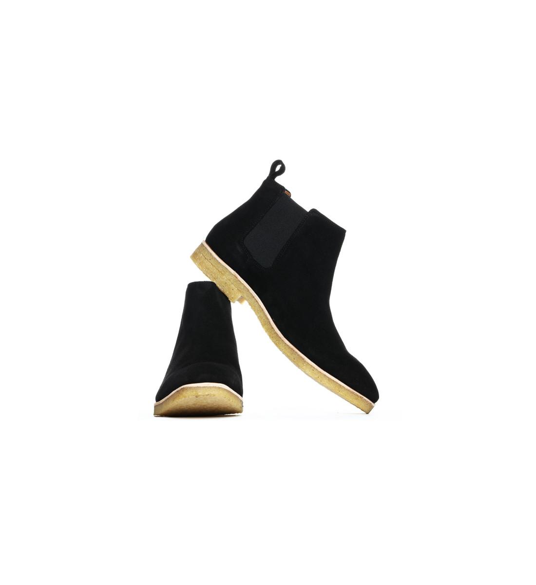 Chelsea Boots mi-haute suede NOIR