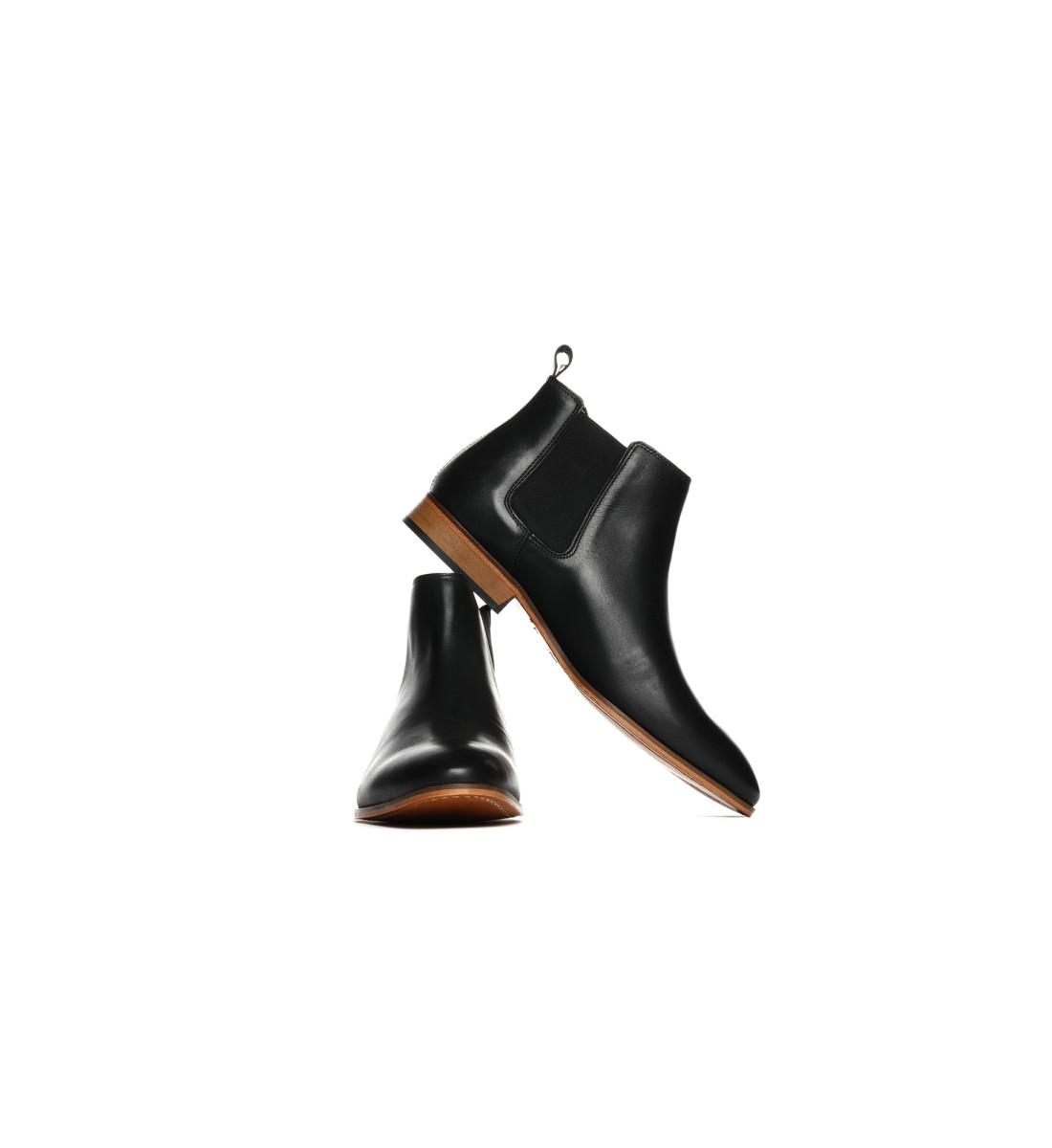 Chelsea Boots mi-haute cuir NOIR