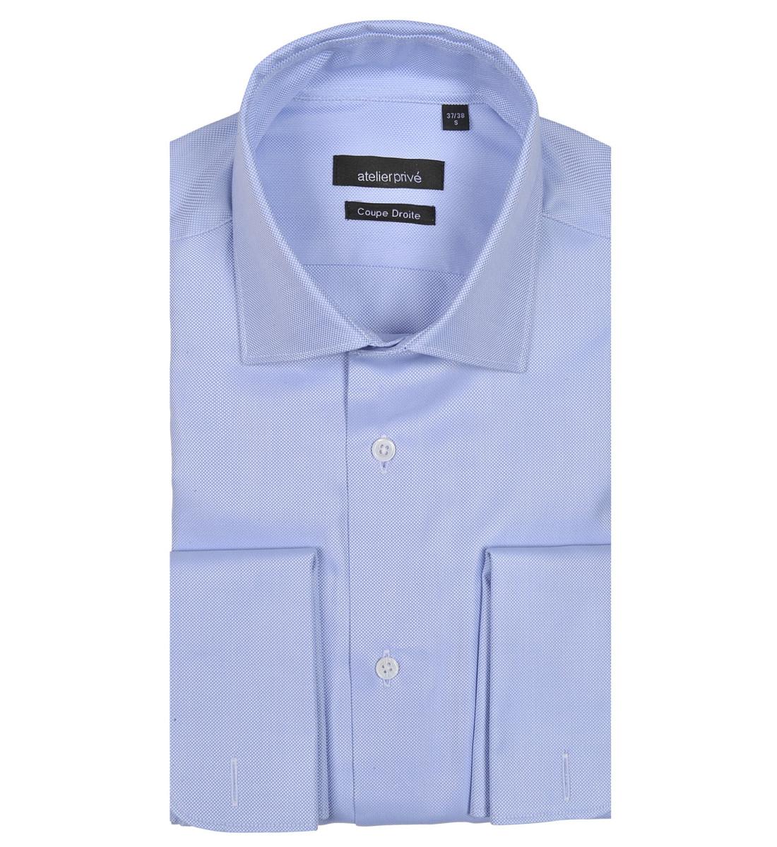 Chemise ajustée col italien