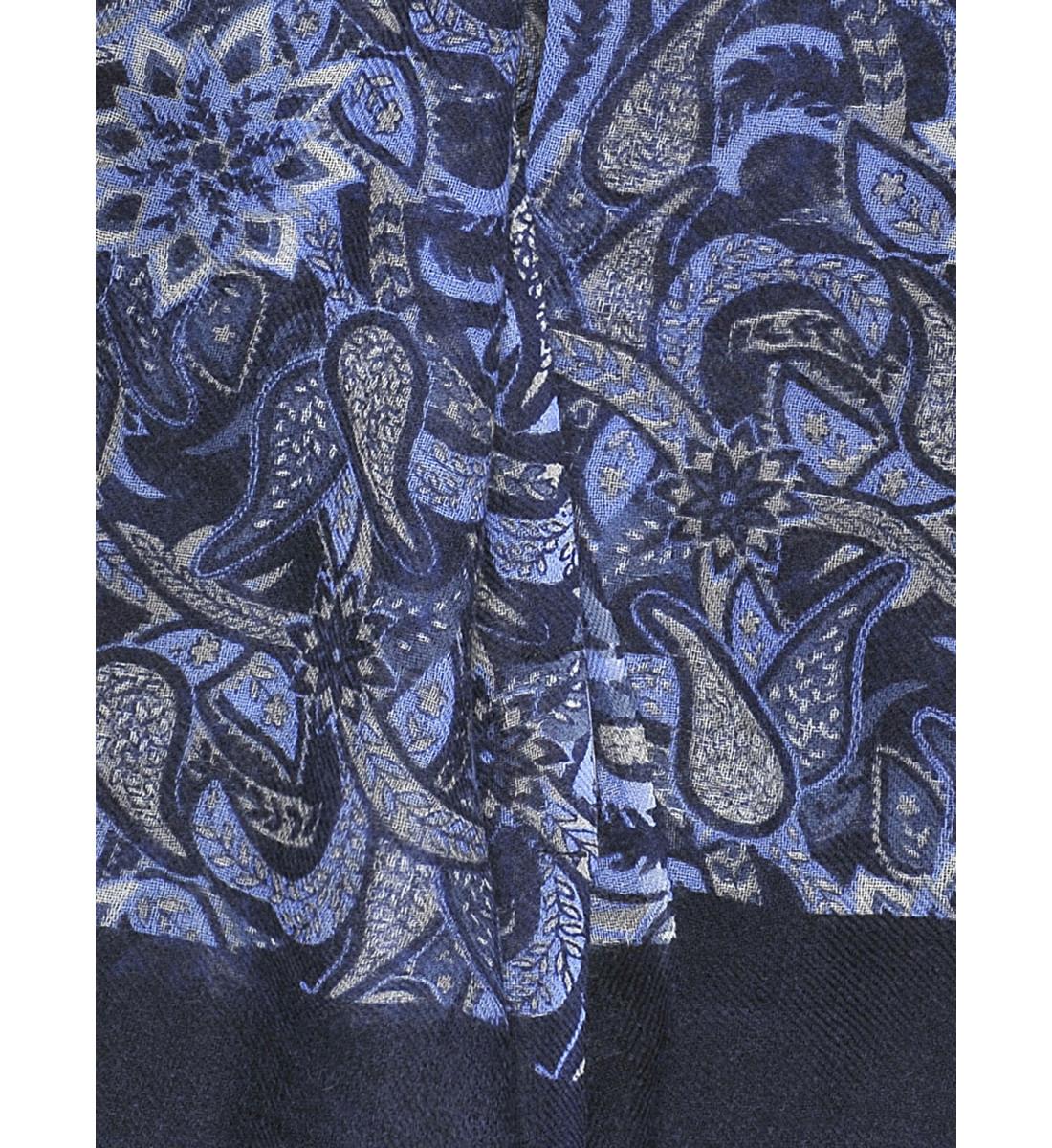 Echarpe fantaisie imprimé floral BLEU