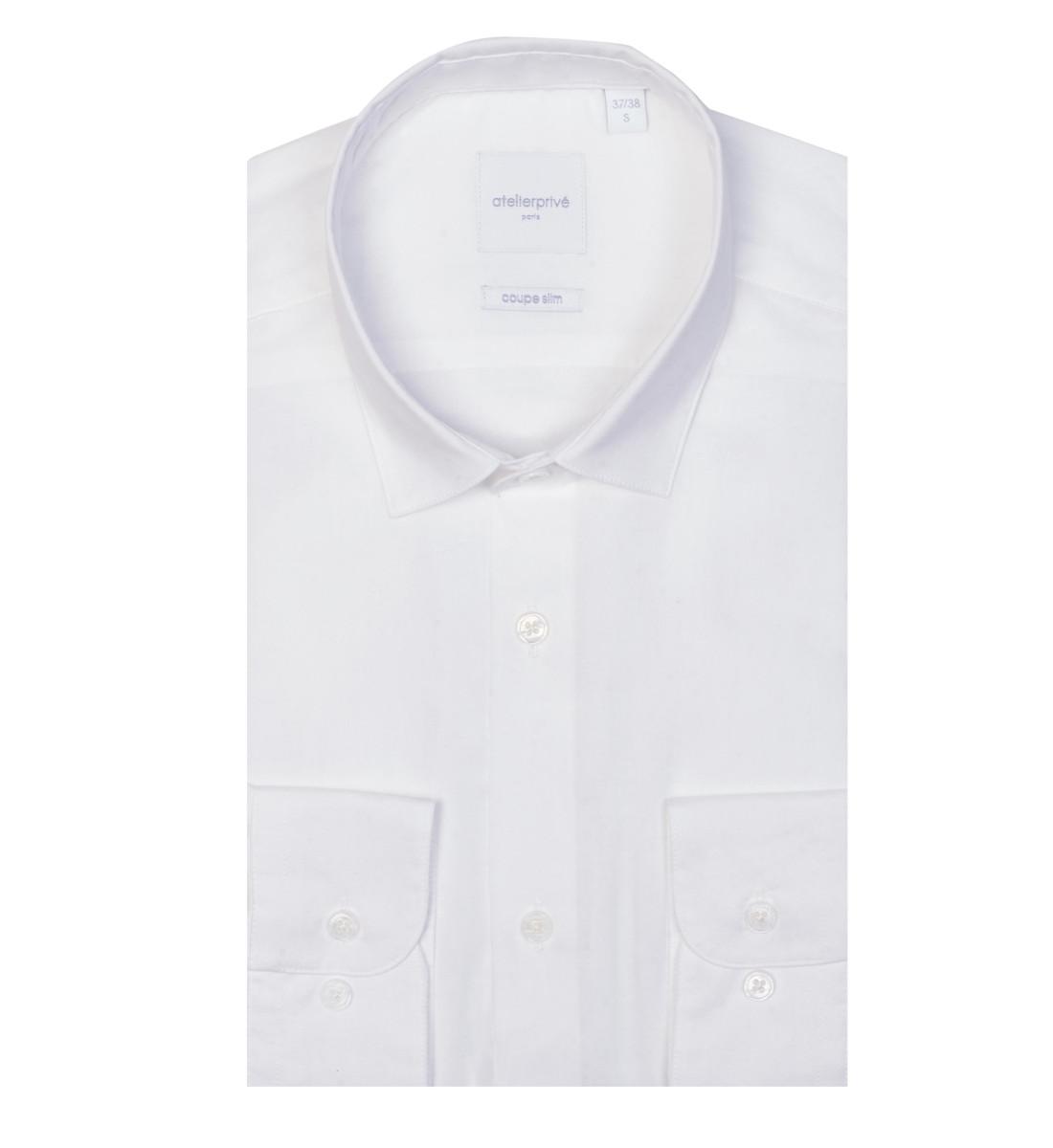 Chemise cintrée NYL blanc
