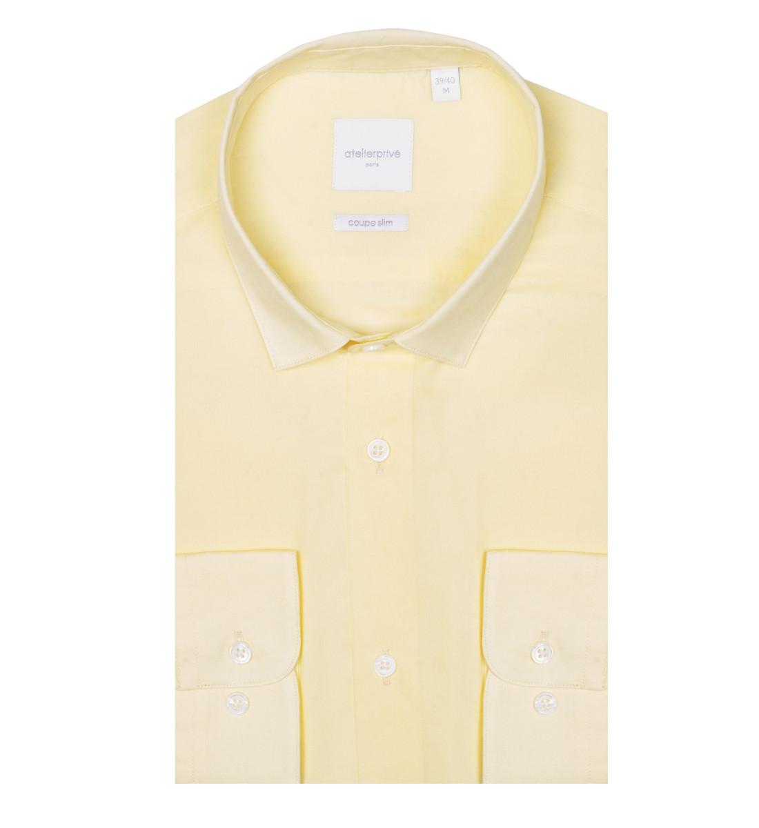 Chemise cintrée NYL jaune