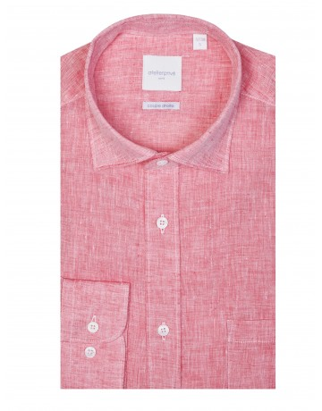 Chemise coupe droite NEO rouge