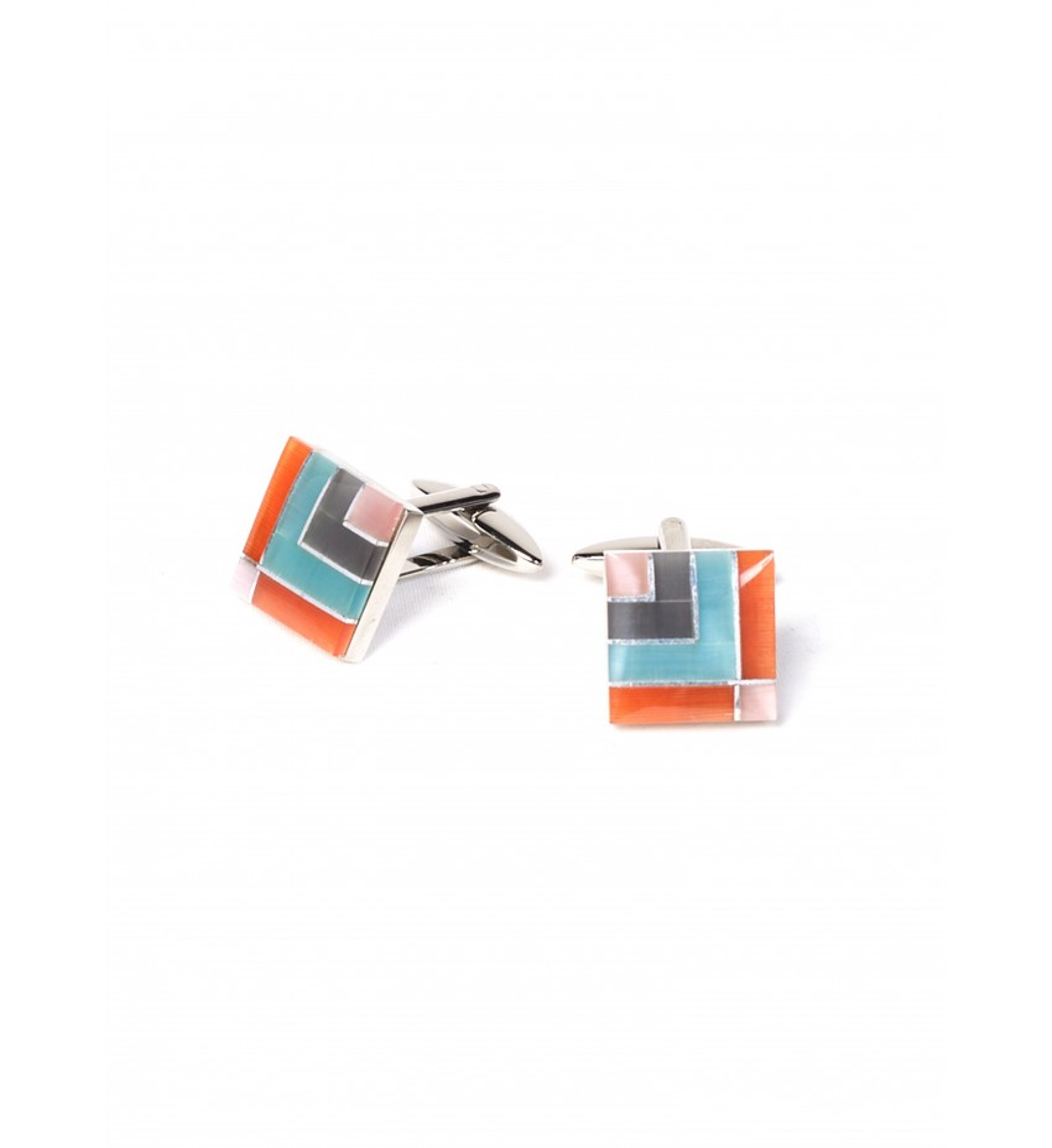 Boutons de manchettes fantaisies motifs multicolores