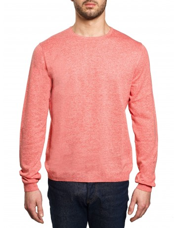 Pull col rond Corail
