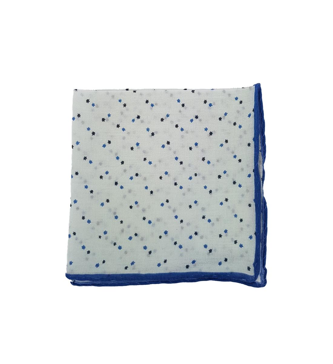 Pochette en coton motif étoiles BLANC