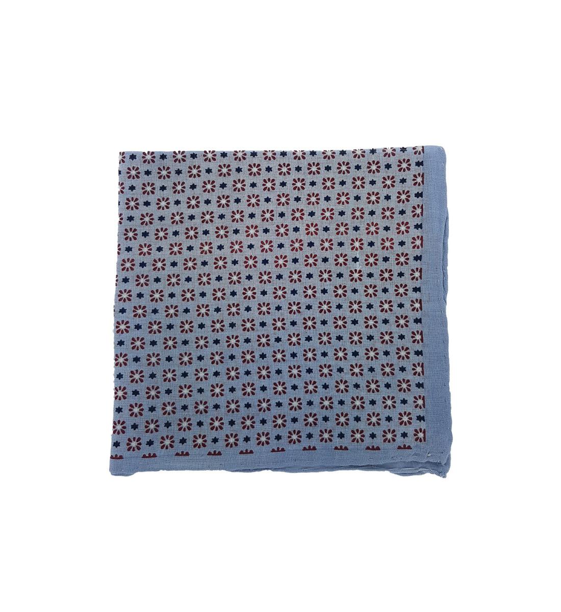 Pochette en coton motif floral BORDEAUX