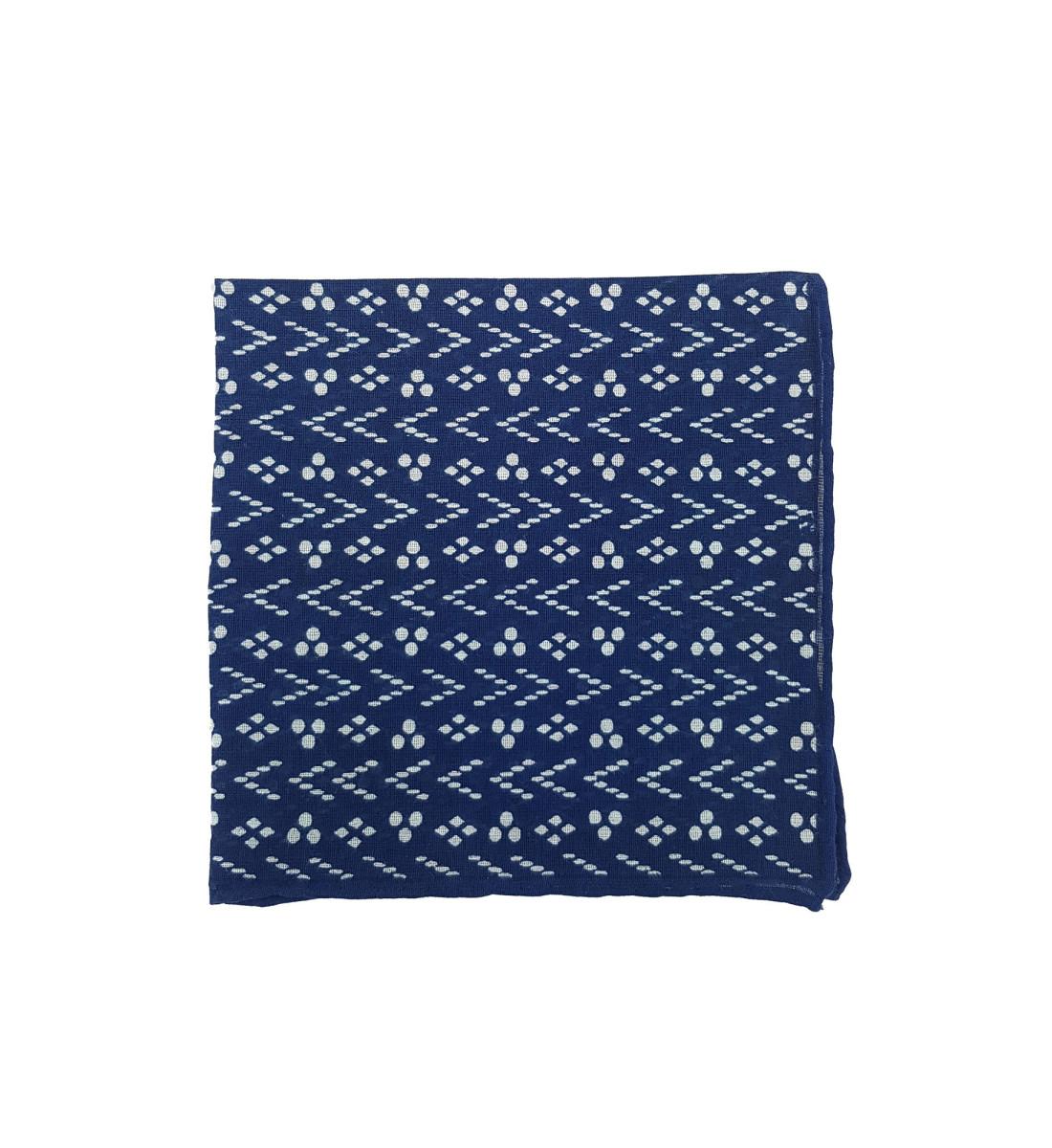 Pochette en coton motif graphique MARINE