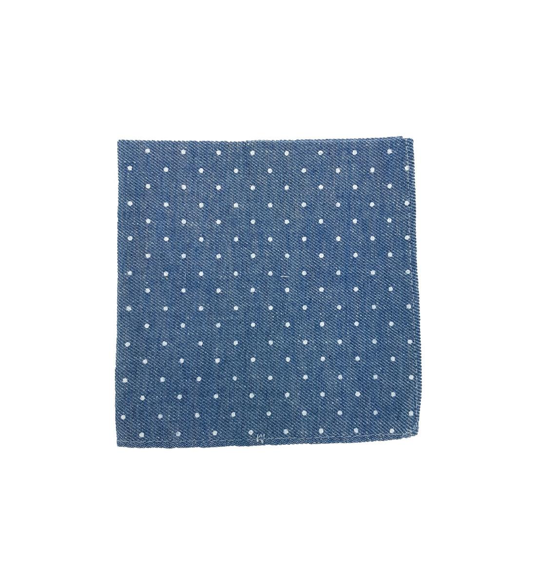Pochette en coton motif pois CIEL