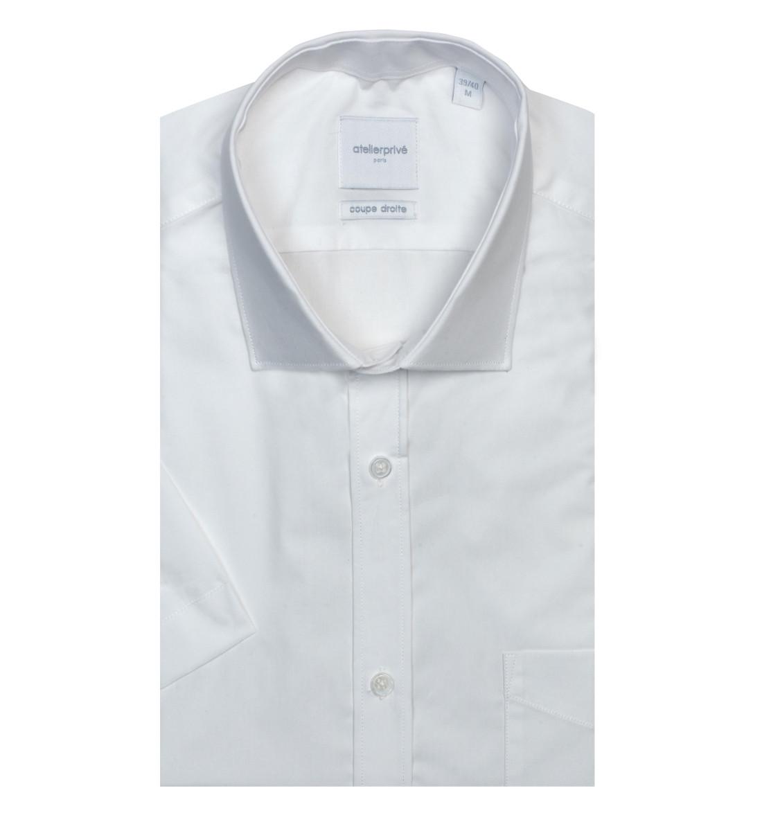 Chemise ajustée NAHYL blanc