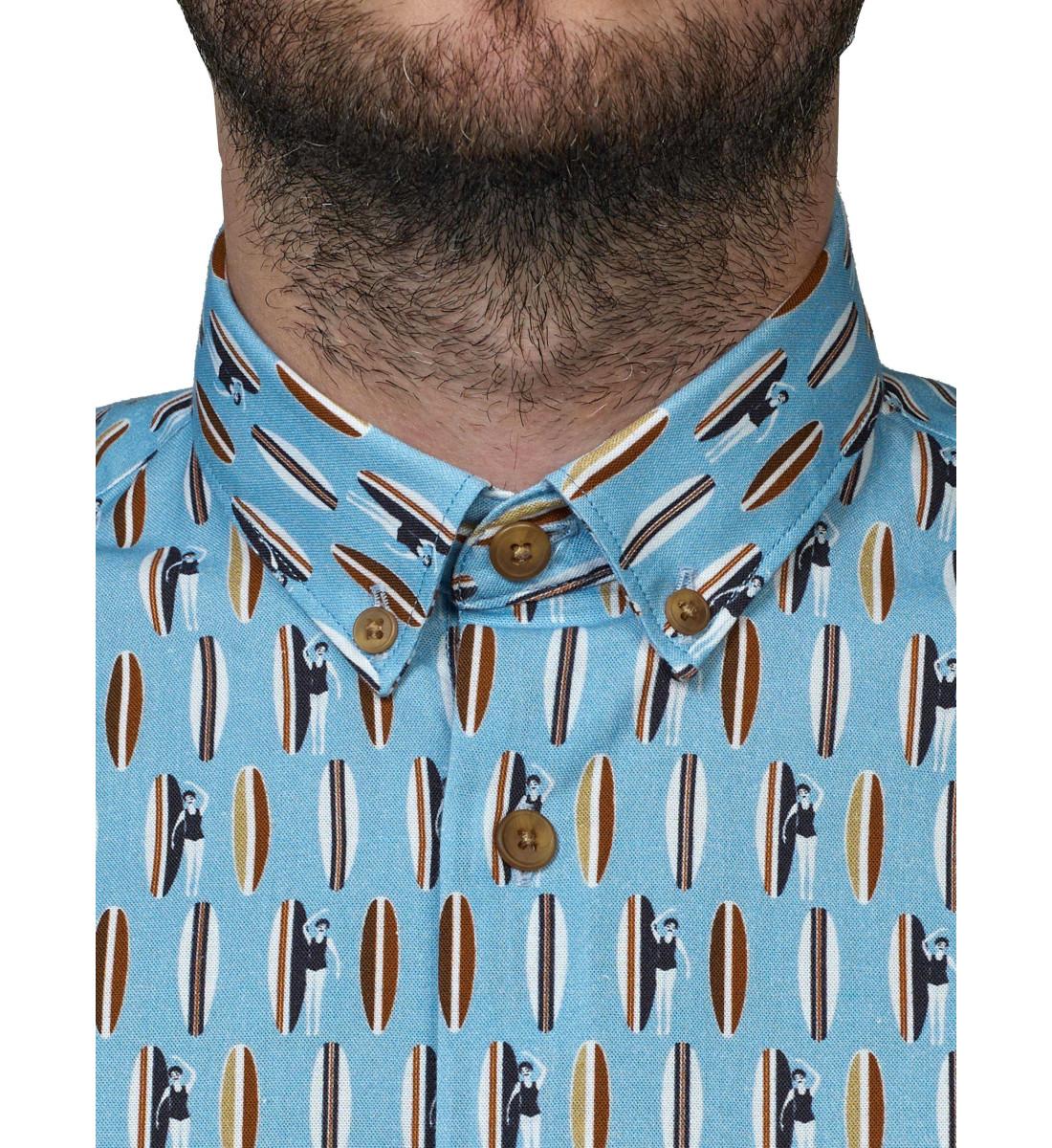 Chemise ajustée manches courtes NIKI