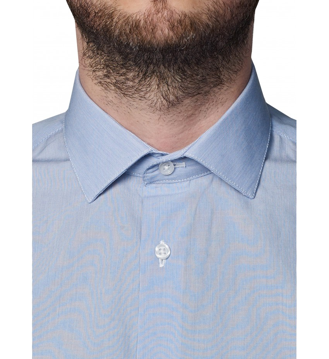 Chemise coupe droite milleraies BLEU