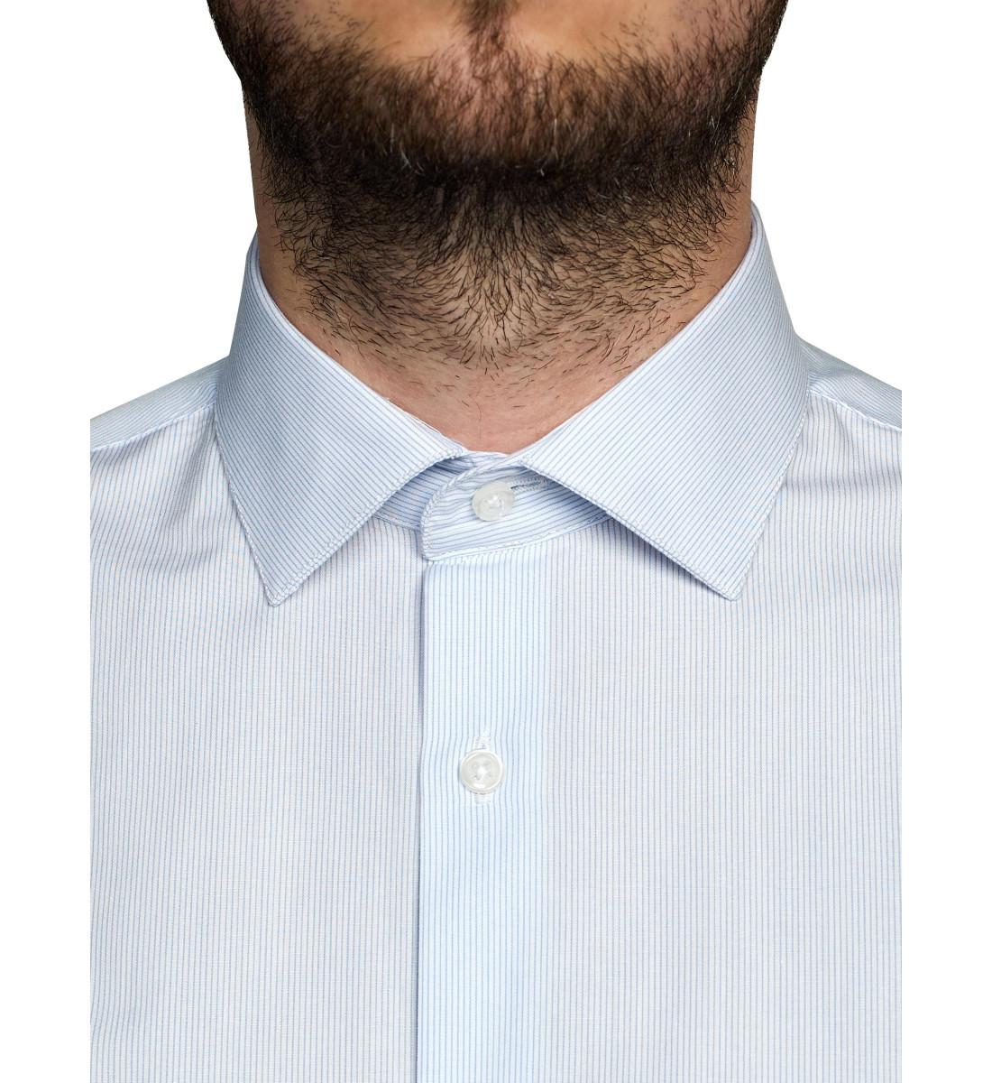 Chemise coupe droite milleraies CIEL