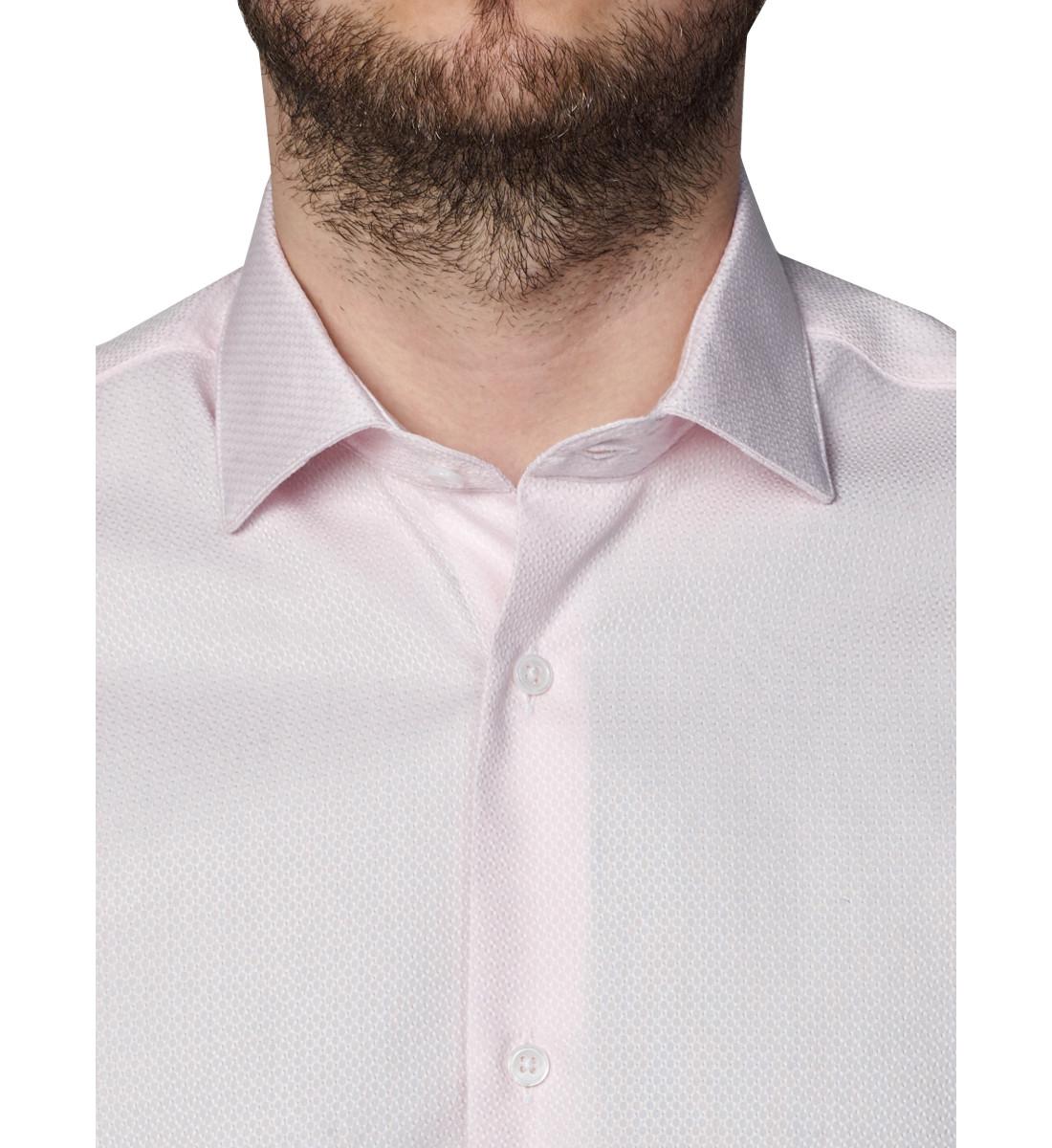 Chemise slim fit tissu texturé ROSE