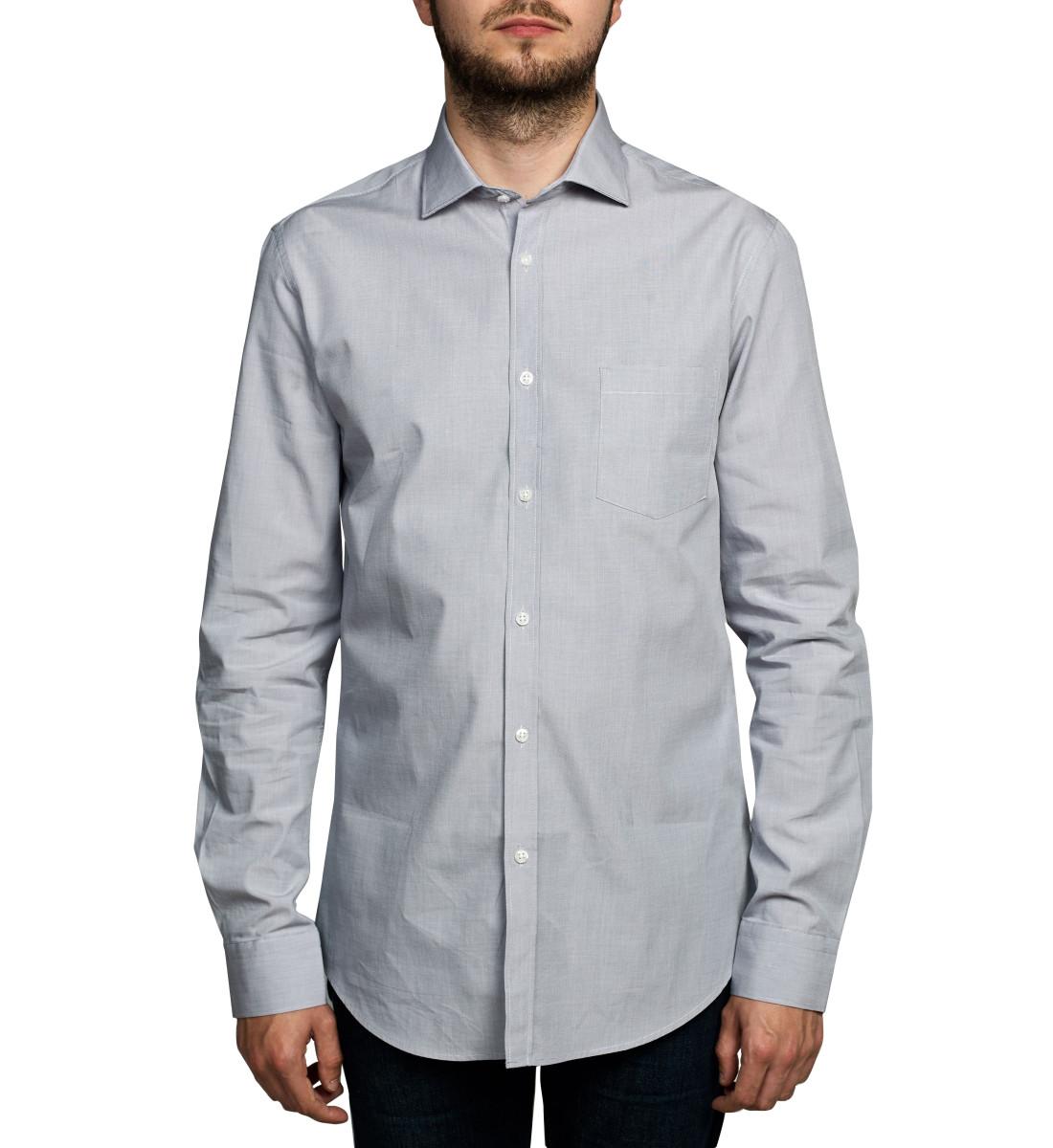 Chemise coupe droite fil à fil GRIS