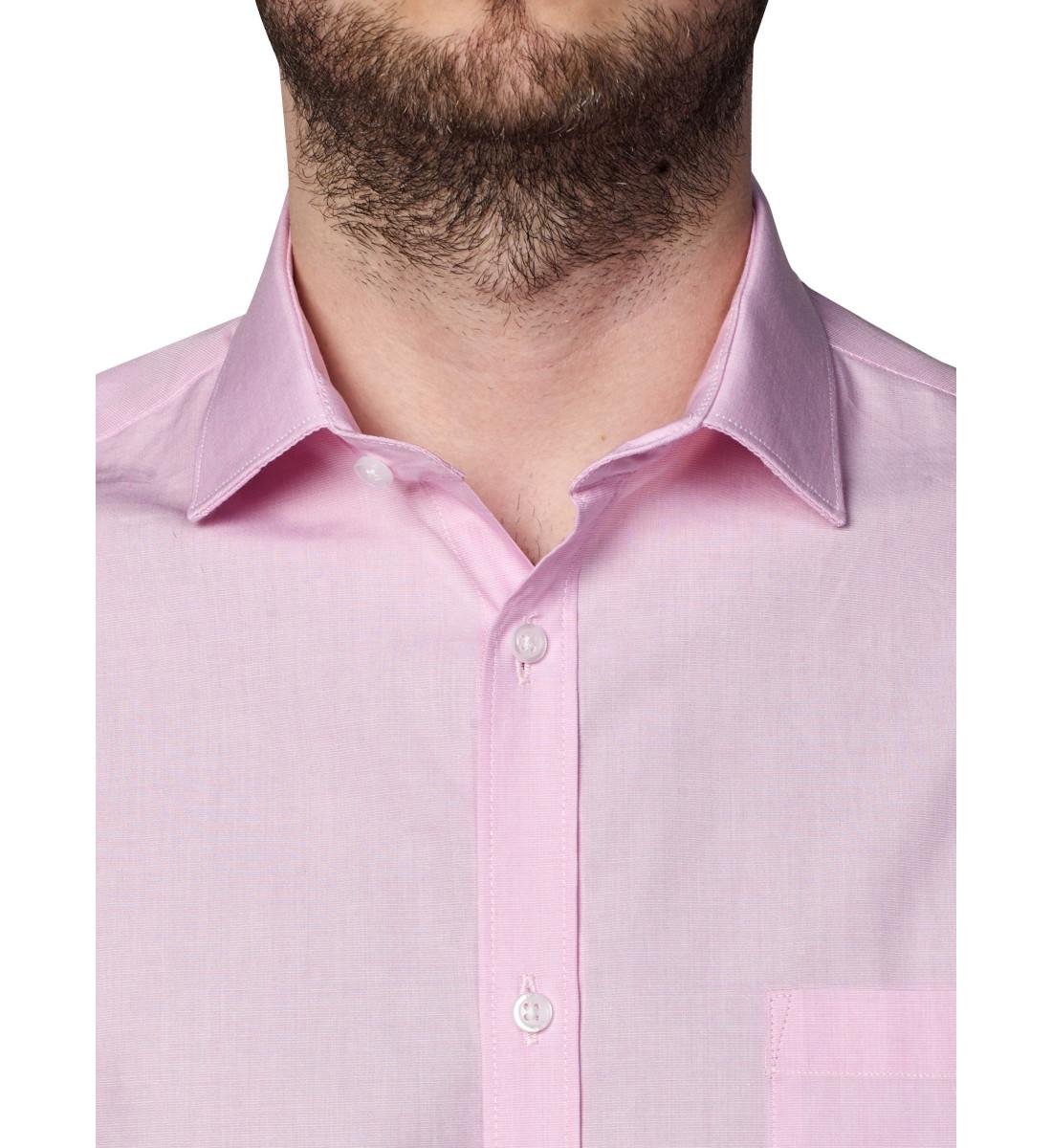Chemise coupe droite fil à fil ROSE