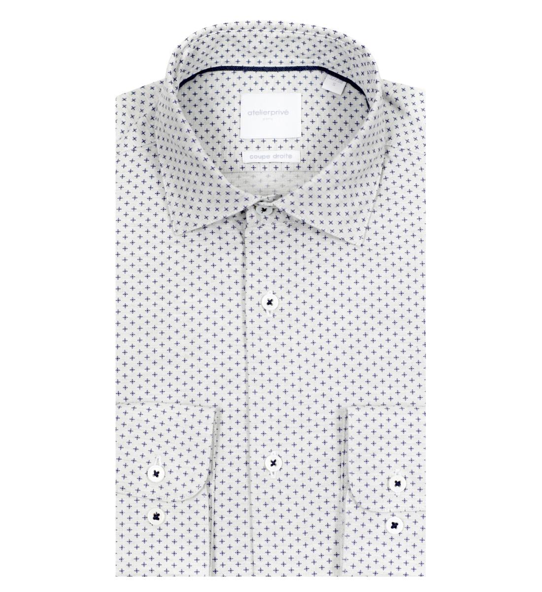 Chemise coupe droite Orlando gris