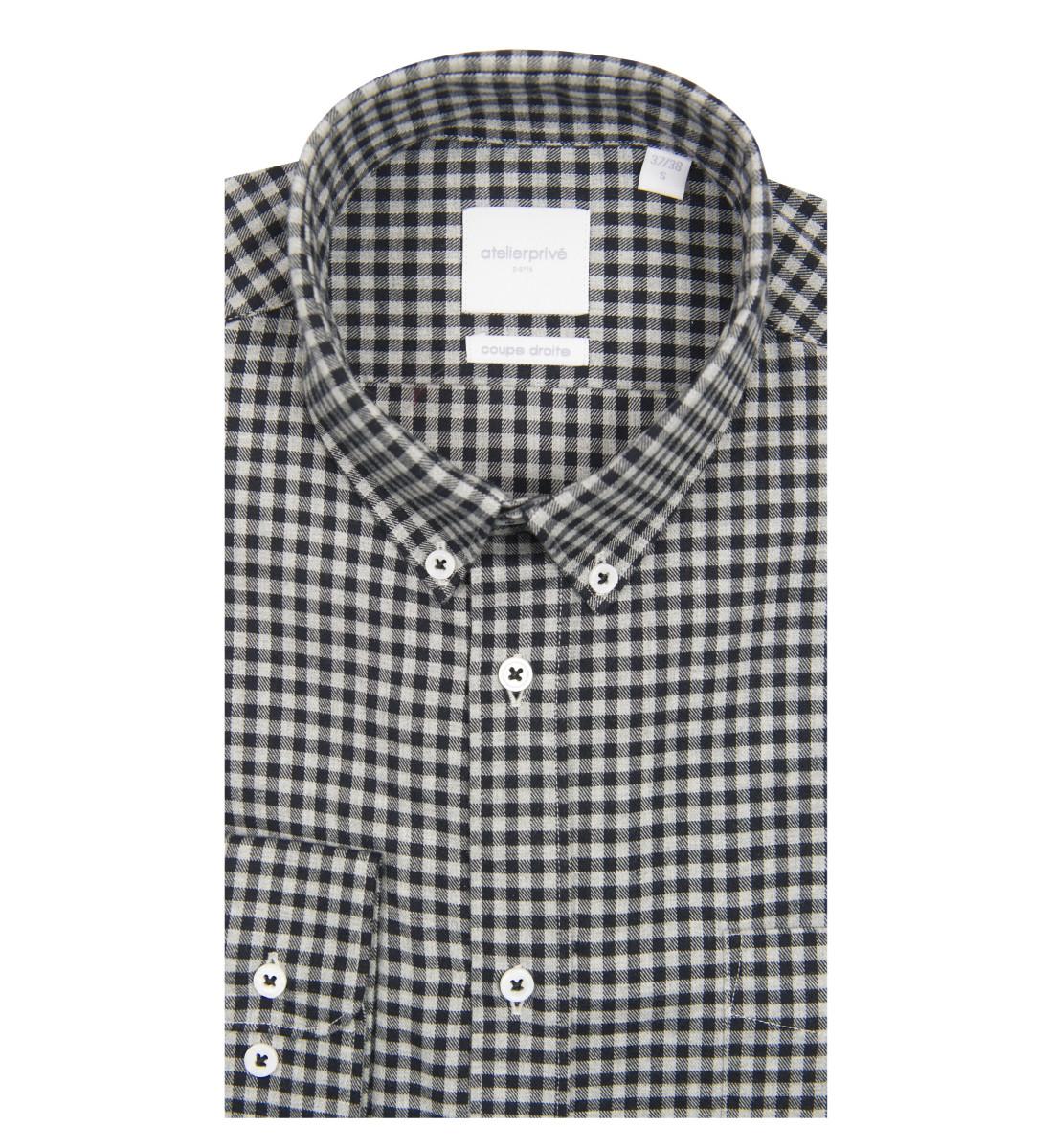 Chemise coupe droite Owen noir