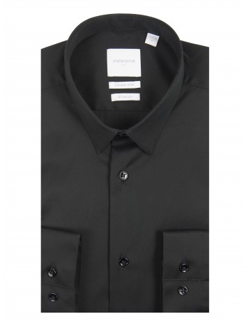 Chemise slim fit stretch NOIR
