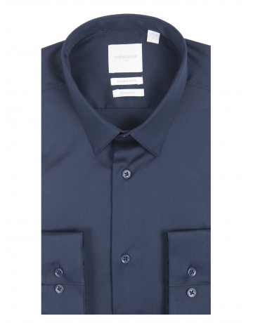 Chemise slim fit stretch MARINE