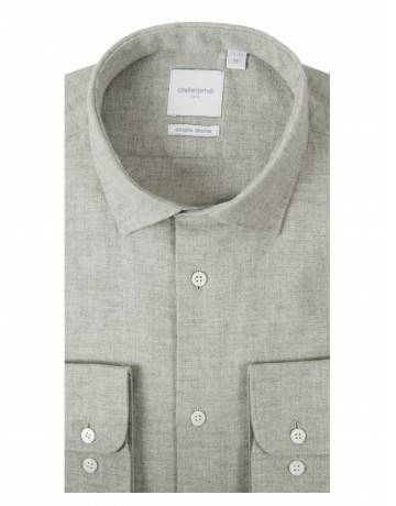 CHEMISE COUPE DROITE OYO GRIS