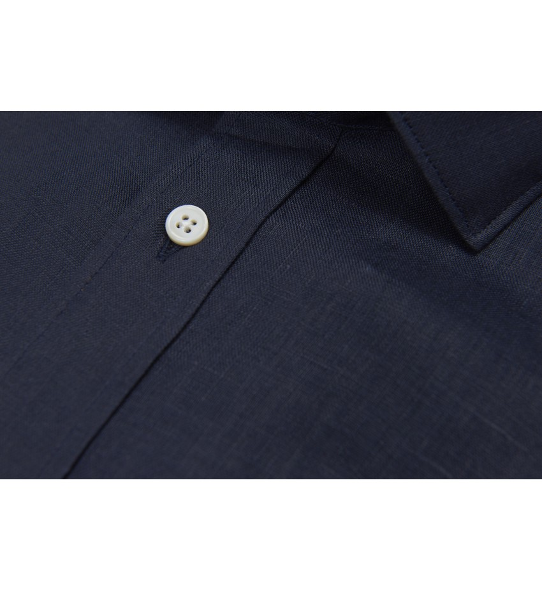 Chemise coupe droite 100% LIN marine