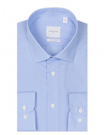 CHEMISE FINES RAYURES COUPE DROITE REPASSAGE FACILE