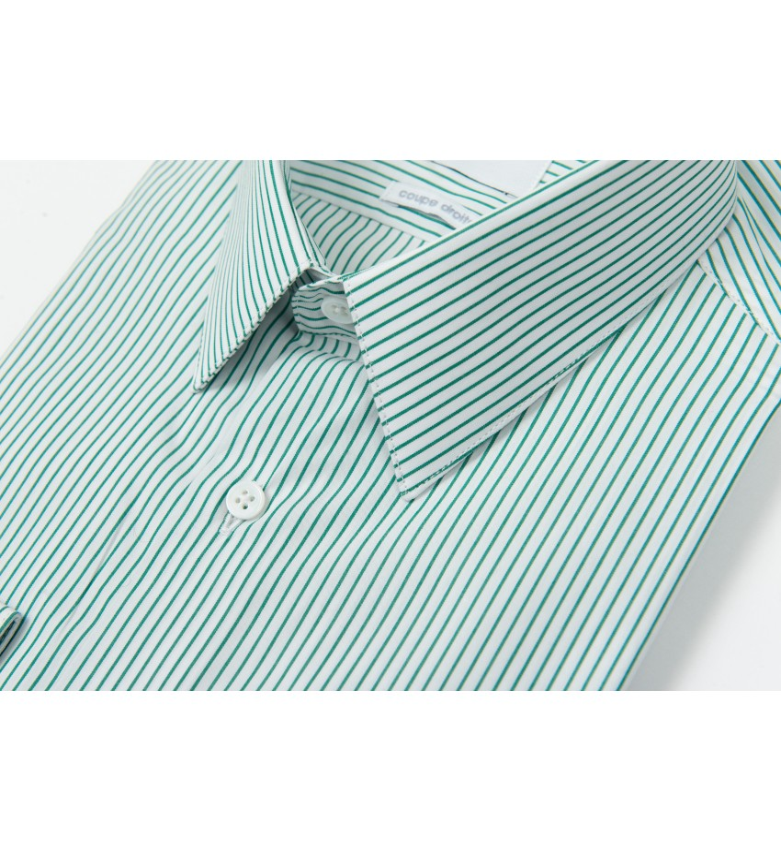 Chemise coupe droite à rayures tennis VERT
