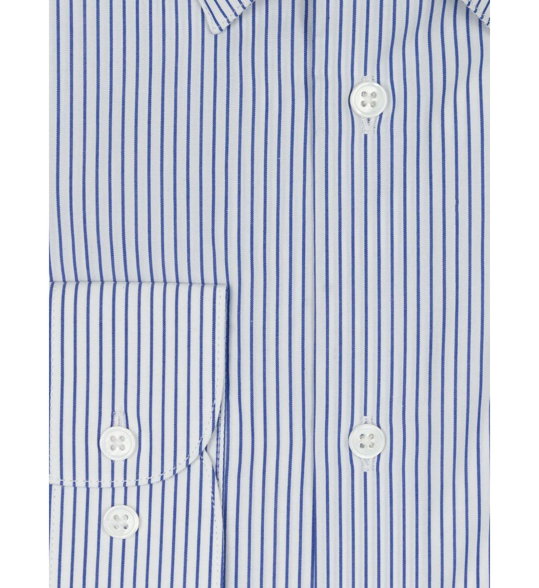 Chemise coupe droite à rayures tennis BLEU