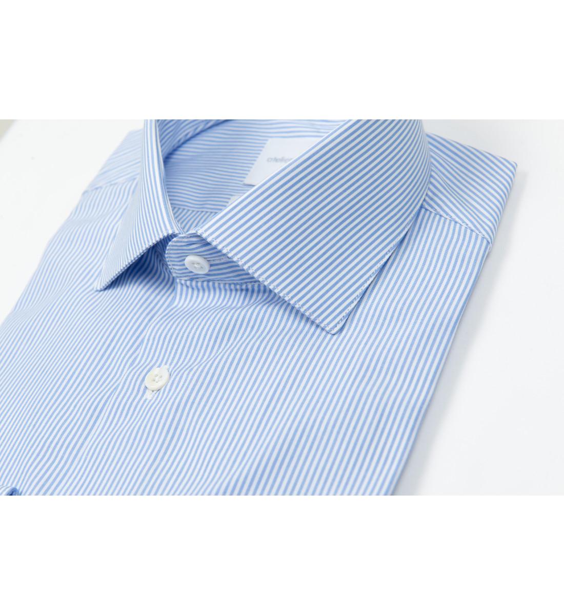 Chemise ajustée à rayures baton CIEL