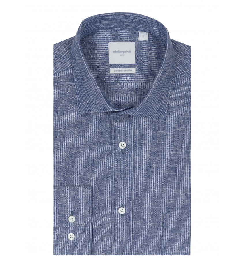 Chemise coupe droite PHARELL MARINE