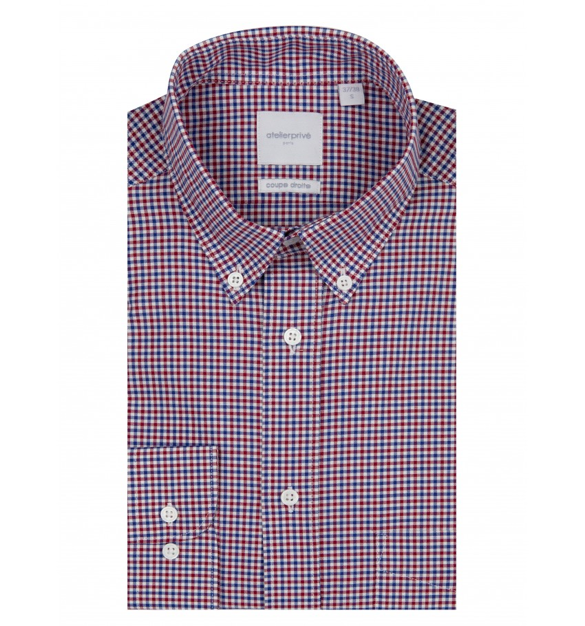 Chemise coupe droite PAOLA ROUGE