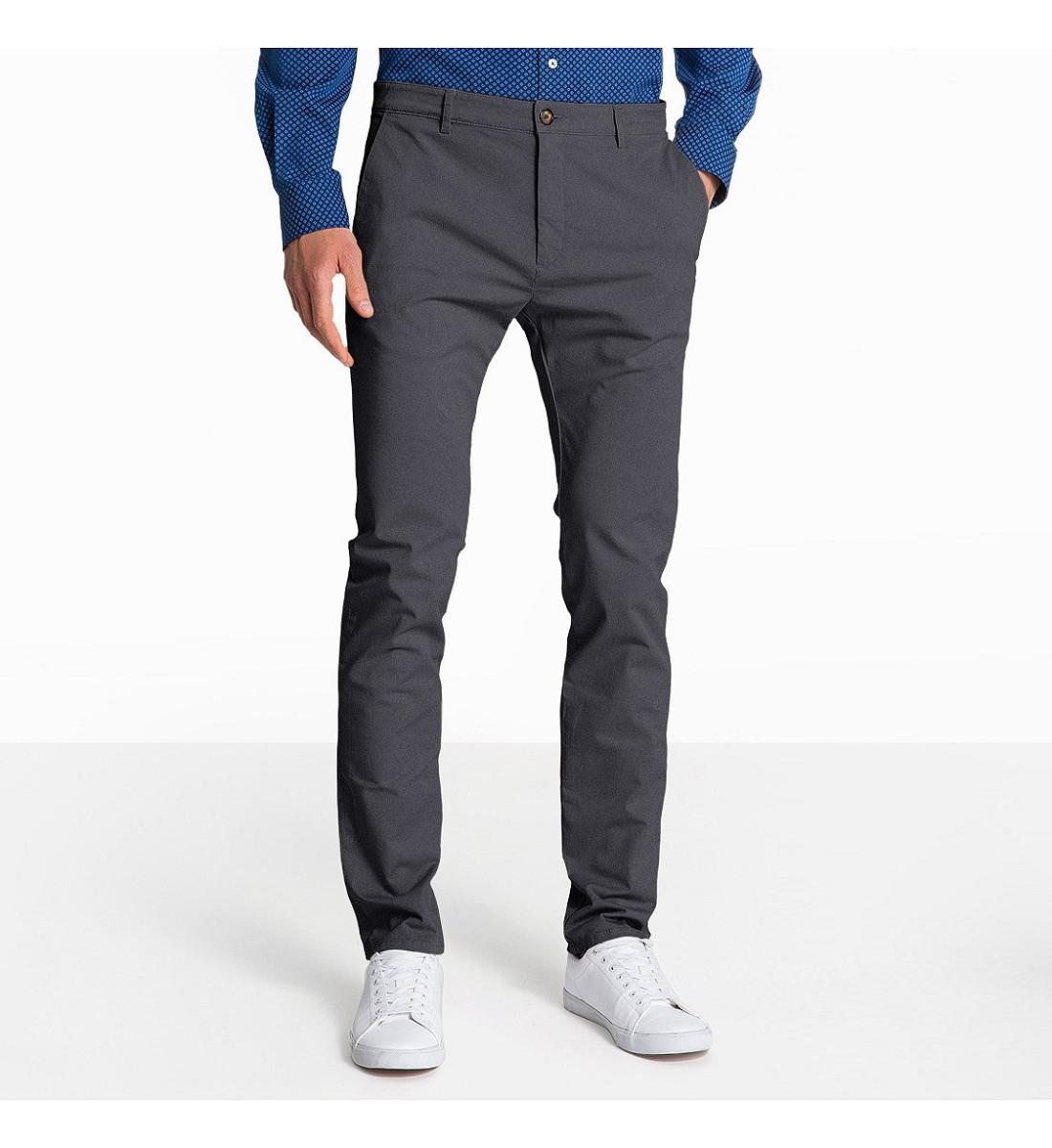 Pantalon CHINO homme Gris