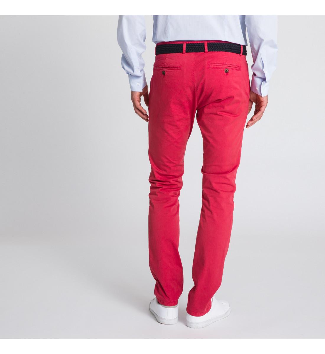 Pantalon CHINO homme Rouge