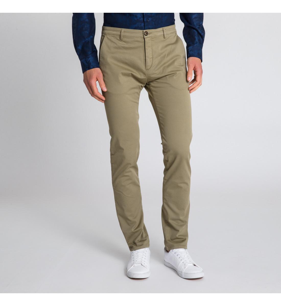 Pantalon CHINO homme Kaki