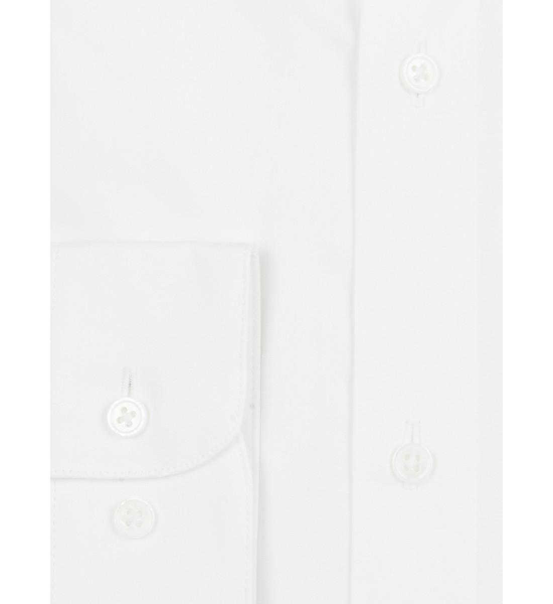 Chemise coupe droite blanc