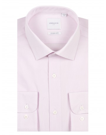 Chemise slim fit à rayures fines ROSE