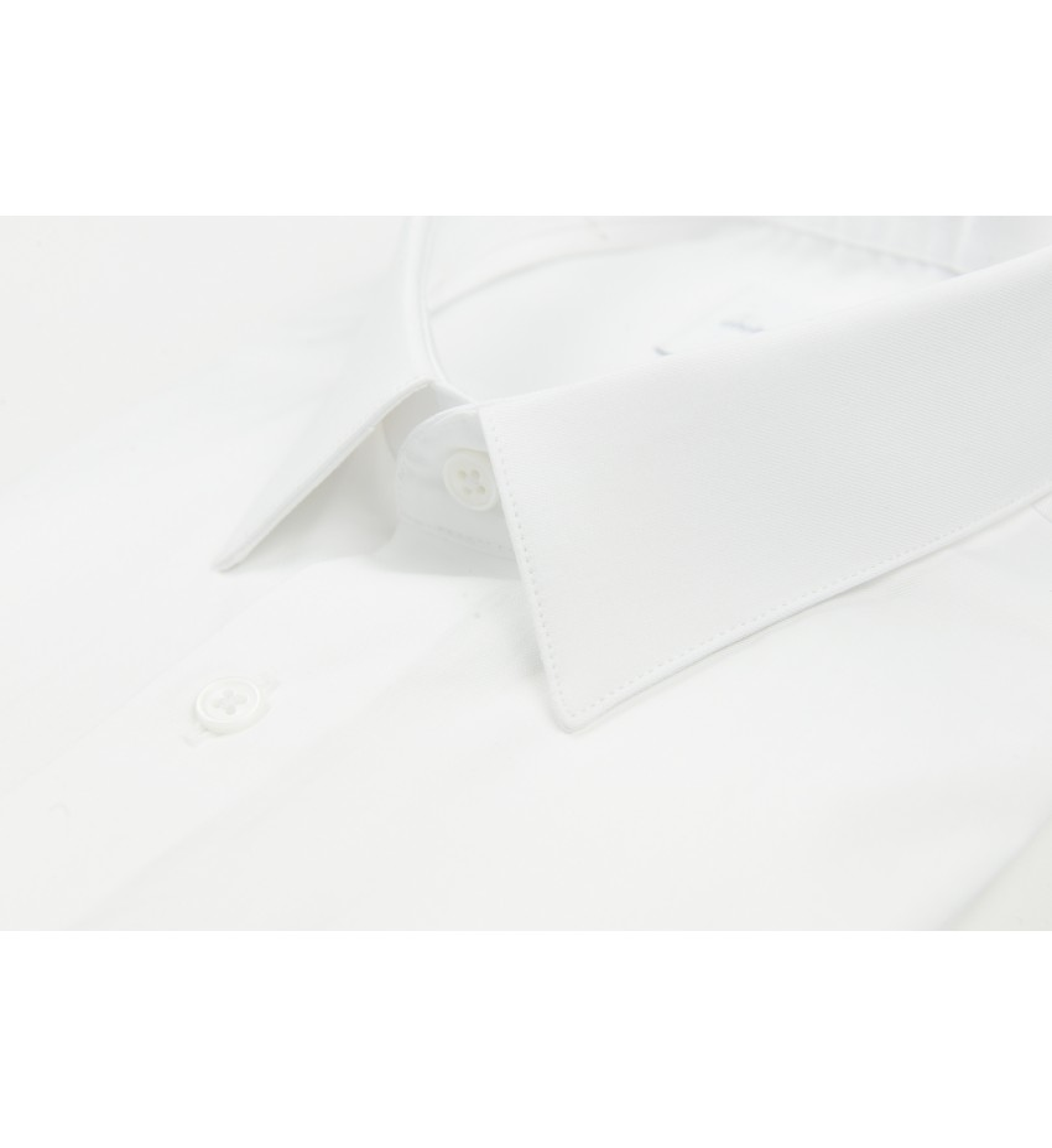 Chemise cintrée mini twill BLANC