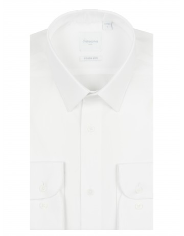 Chemise slim fit mini twill BLANC