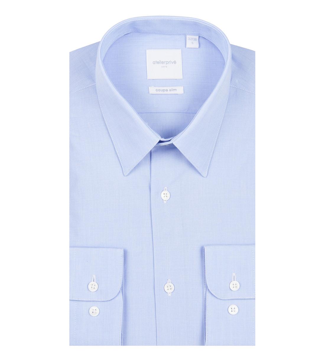 Chemise cintrée col français fil à fil CIEL
