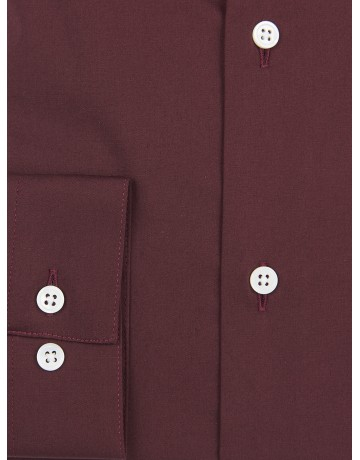 Chemise slim fit stretch BORDEAUX