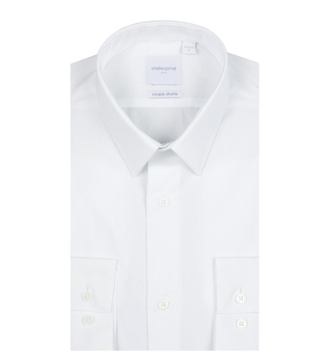 Chemise ajustée en popeline petit col