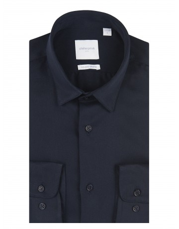 Chemise coupe droite RICKY marine