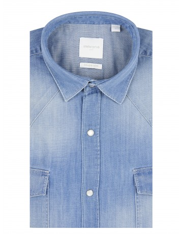 Chemise slim fit western en denim