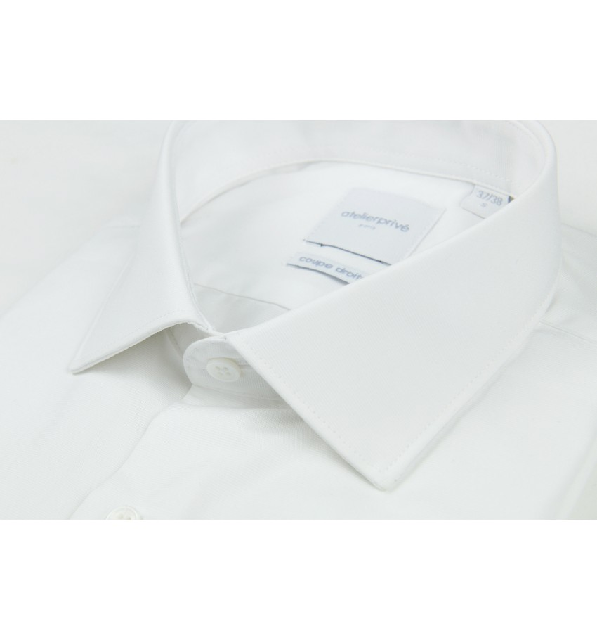 Chemise coupe droite pin point REPASSAGE FACILE